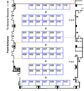 Exhibit Hall Layout Image